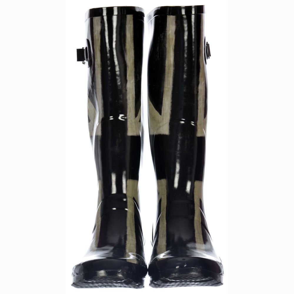 Extra Wide Calf Wellies >> LADIES EXTRA WIDE CALF LEG BLACK PATENT WELLIES WELLINGTON ...
