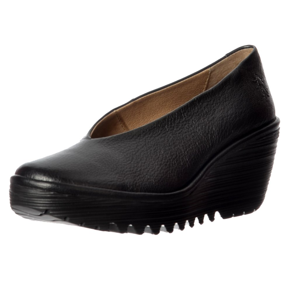 Black Wedged Court Shoes Uk