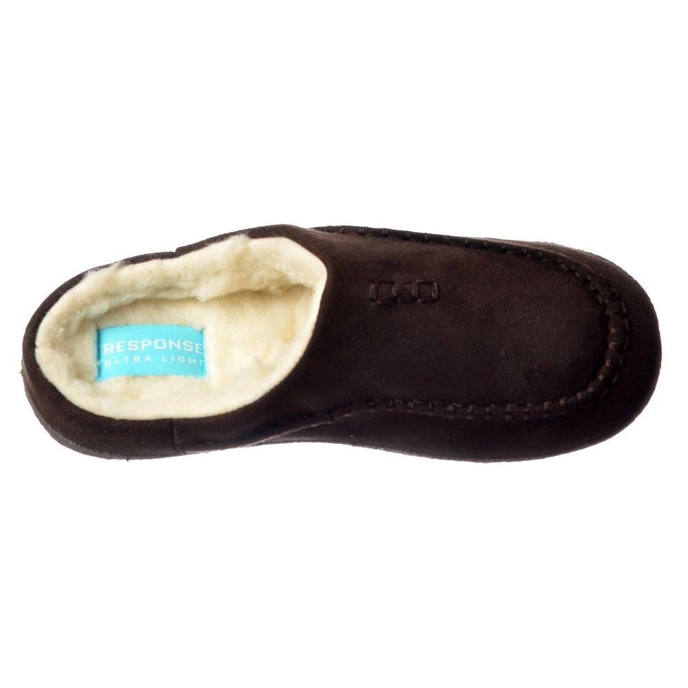 Mens Boys Luxury Warm Fleeced Fur Hard Wearing Sole Slip On Mule Slippers Size