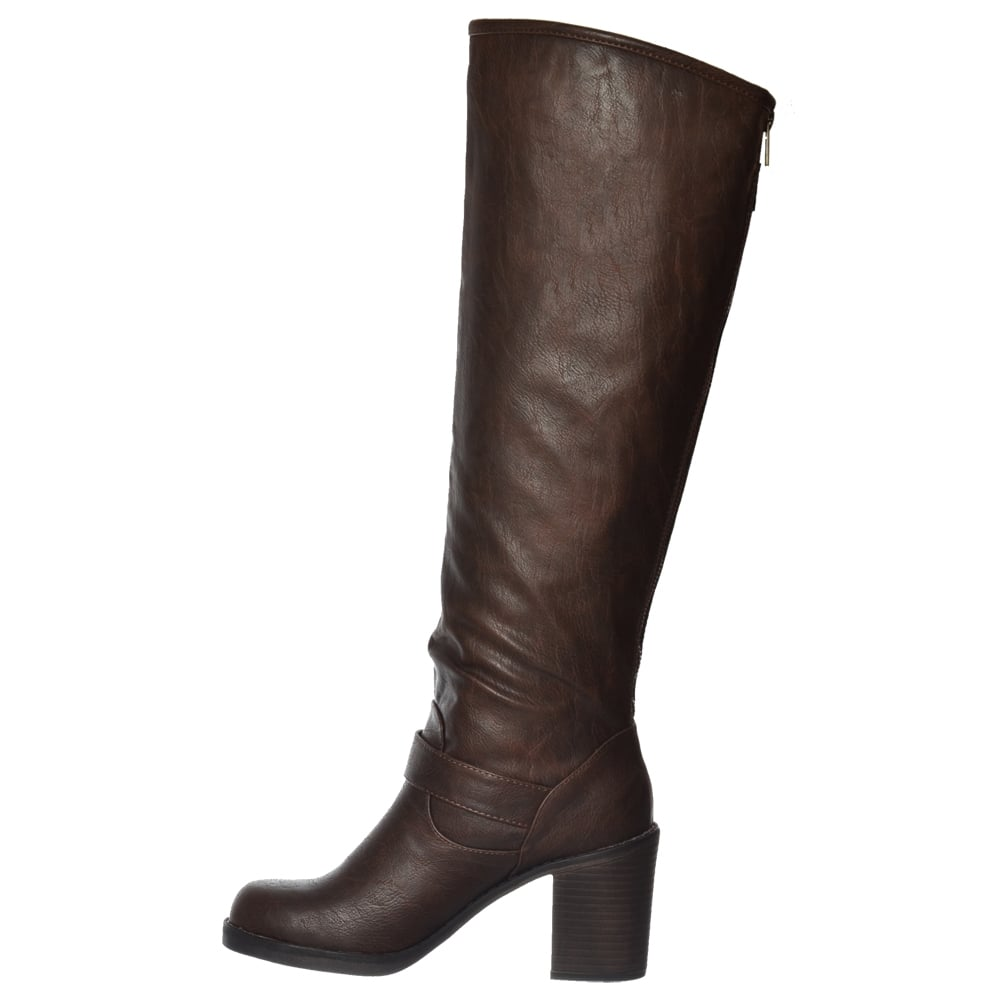 womens rocket shayna black knee high heeled size wide