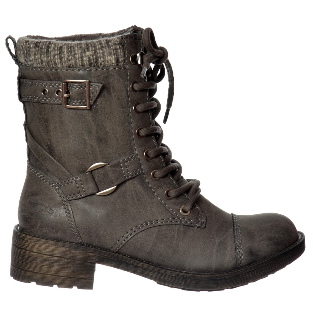Ladies Womens Rocket Dog Thunder Military Biker Ankle Boot Shoe ...