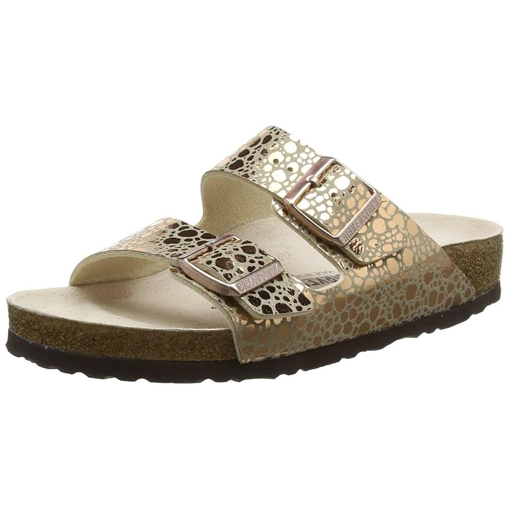 af248fa3fb7f Arizona Birkoflor Metallic Stones - Standard Fitting Classic Buckled Two  Strap - Flip Flop Sandal