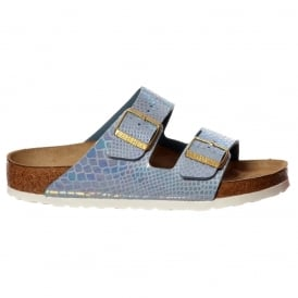 Arizona Shiney Snake Birkoflor - Standard Fitting Classic Buckled Two Strap - Flip Flop Sandal