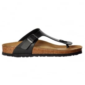Classic Gizeh BirkoFlor -Standard Fitting Buckled Toe Post Thong Style - Flip Flop Sandal Black