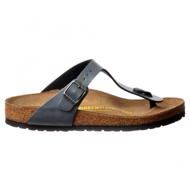 Birkenstock Classic Gizeh BirkoFlor -Standard Fitting Buckled Toe Post Thong Style - Flip Flop Sandal Ice Pearl Onyx