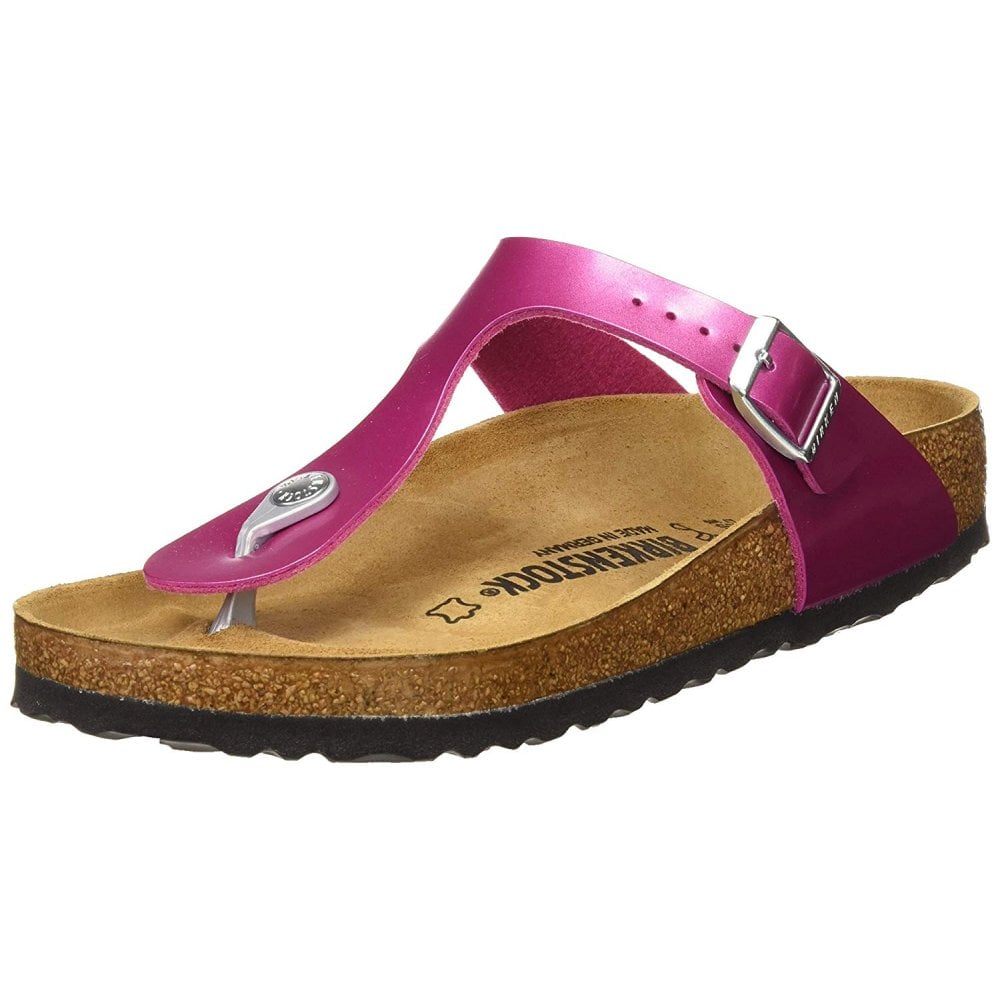bc4057cf148d Gizeh Electric Metallic BirkoFlor - Standard Fitting Buckled Toe Post Thong  Style - Flip Flop Sandal