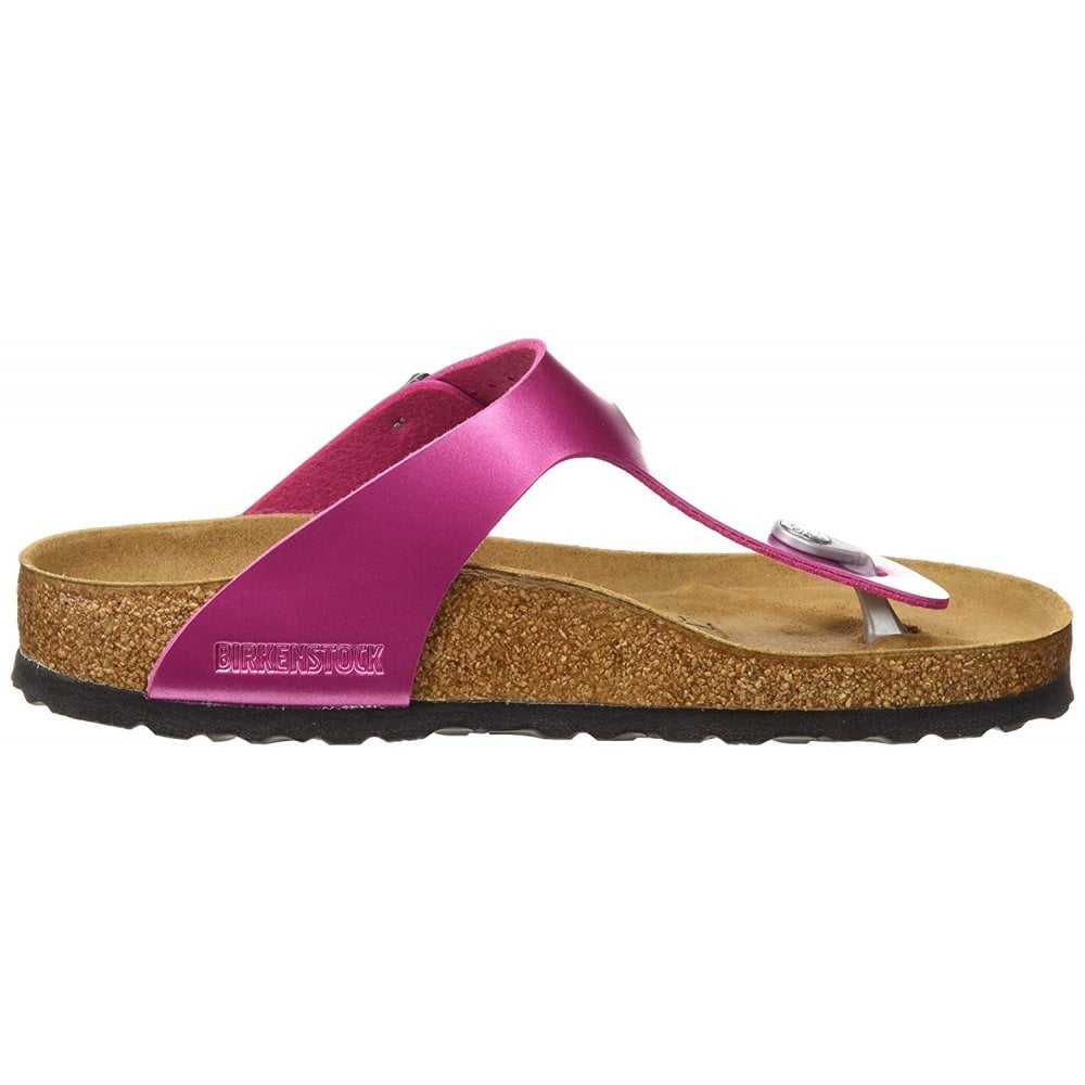 Birkenstock Gizeh Electric Metallic BirkoFlor Standard Fitting Buckled Toe Post Thong Style Flip Flop Sandal