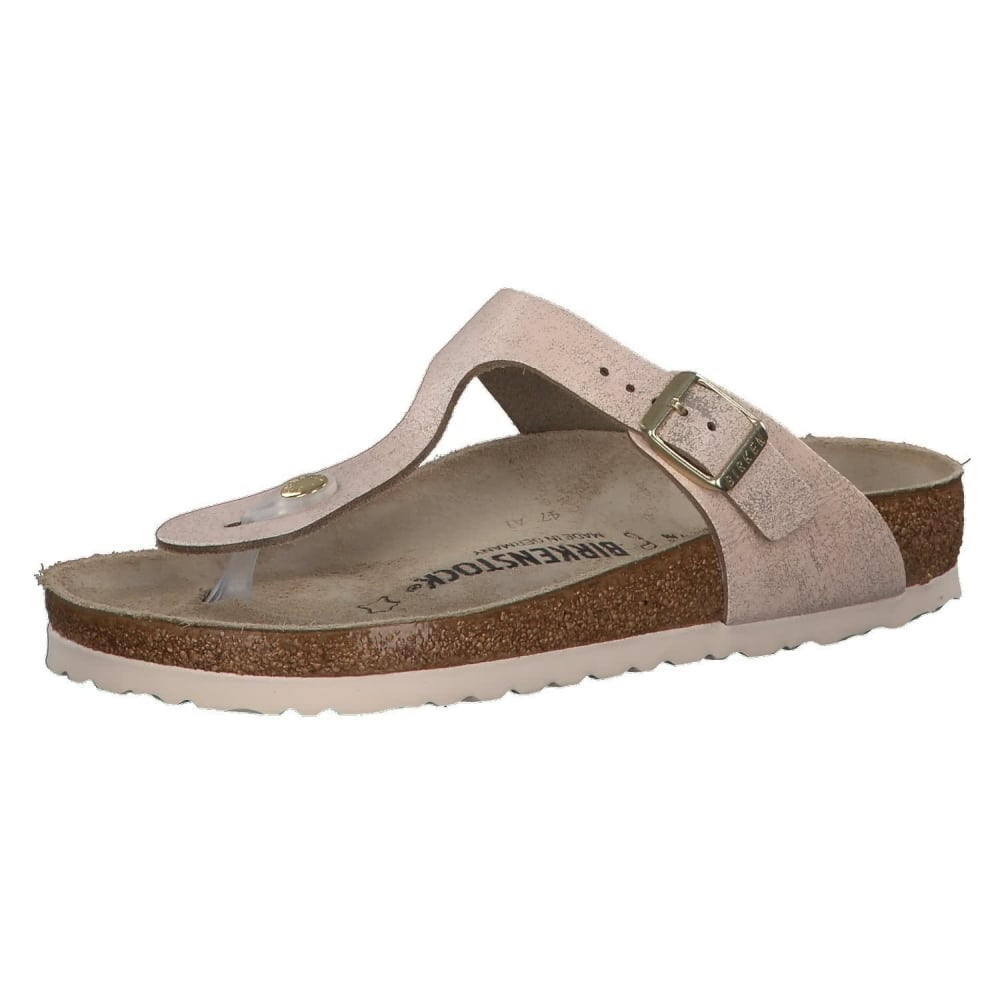 31e973cc1c362 Gizeh VL Washed Suede Leather -Standard Fitting Buckled Toe Post Thong  Style - Flip Flop