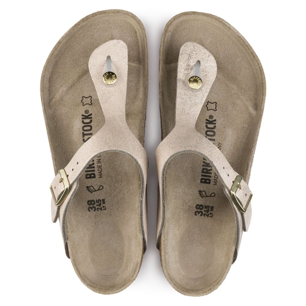 2c3ffbfc332 Gizeh VL Washed Suede Leather -Standard Fitting Buckled Toe Post Thong  Style - Flip Flop
