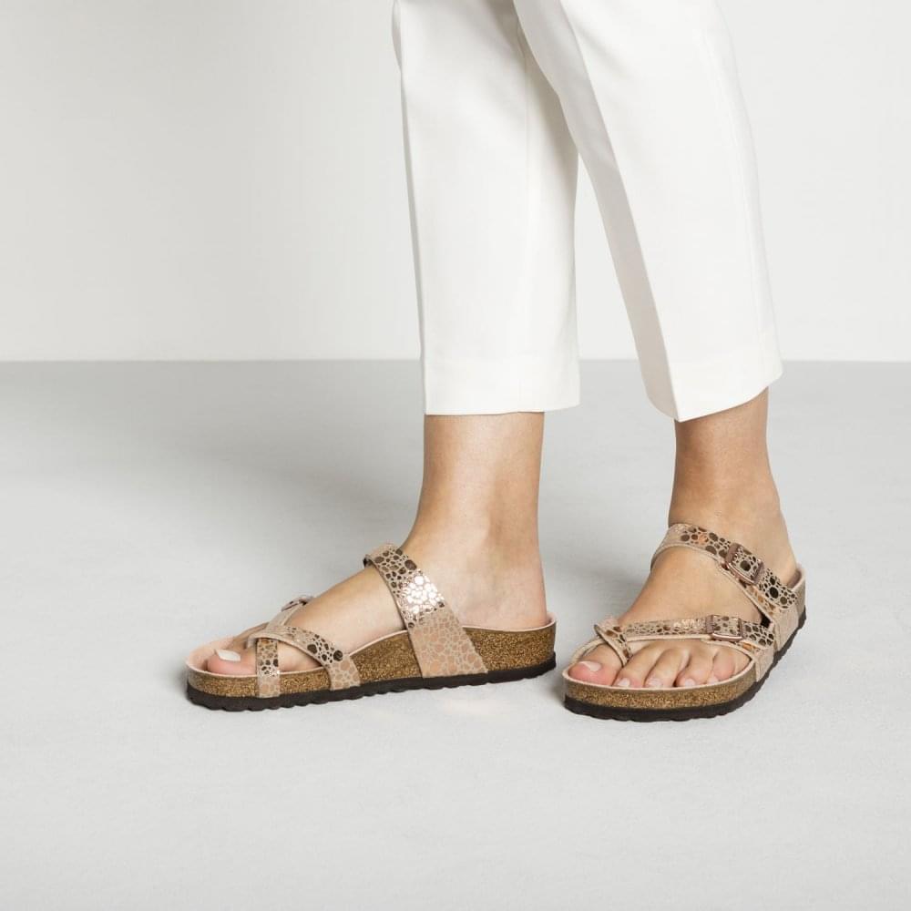 01c5226d7767be Mayari Birko-Flor Metallic Stones Sandal Standard Fit - Toe Loop Slip On  Sandal