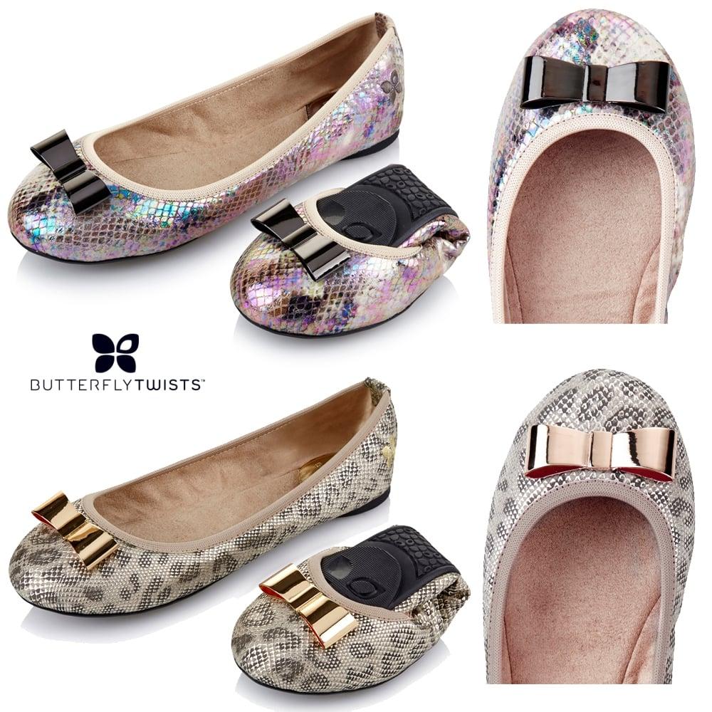 Butterfly Twists Chloe - Folding Ballerina Pumps - WOMENS from ... f97ebeeca