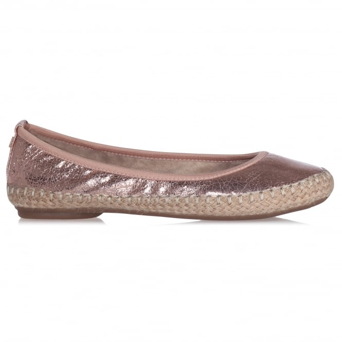 Butterfly Twists GIGI- Folding Ballerina Pumps With Natural Jute Trim