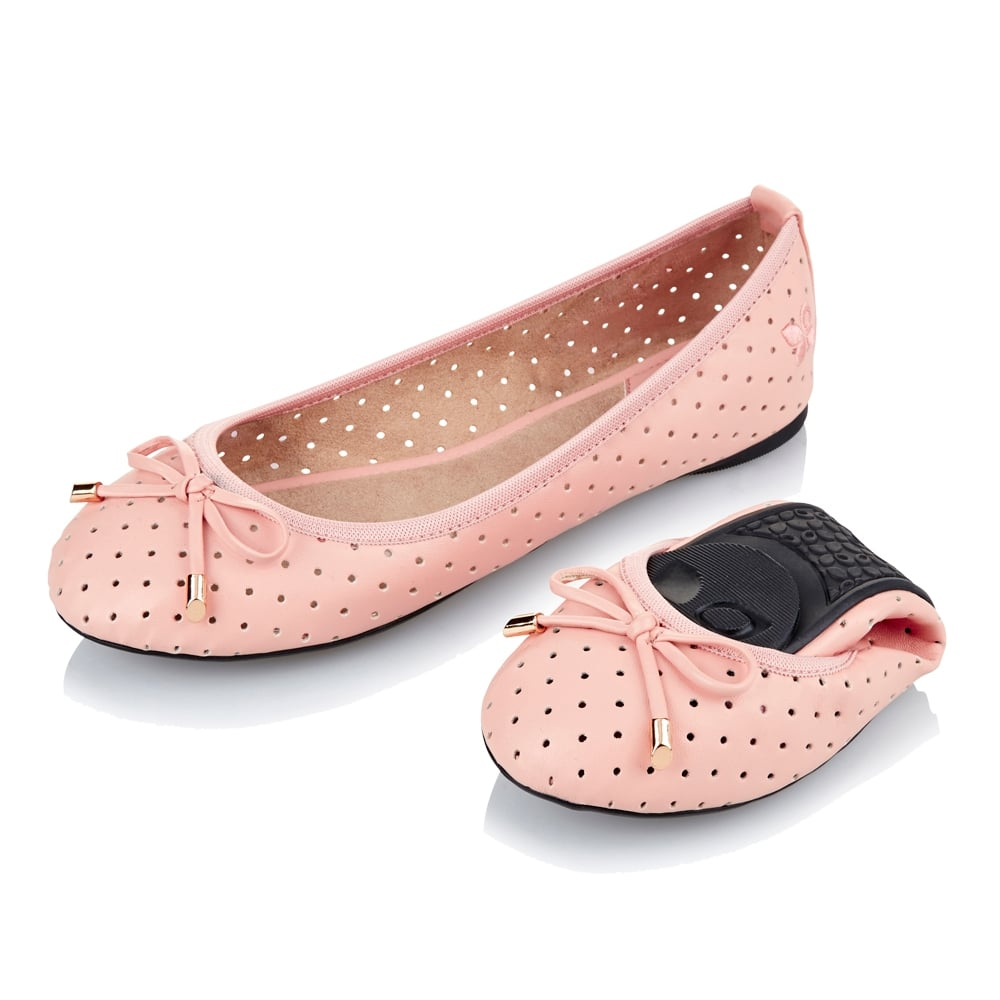 Butterfly Twists Grace - Folding Ballerina Pumps - Dusty Pink - WOMENS from  Onlineshoe UK 1b8b14b33