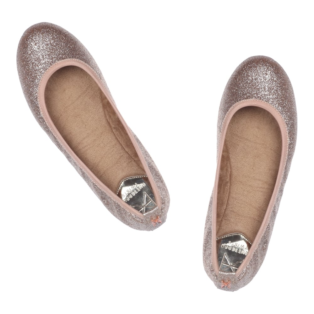 butterfly twists samantha glitter folding ballerina pumps womens from onlineshoe uk. Black Bedroom Furniture Sets. Home Design Ideas