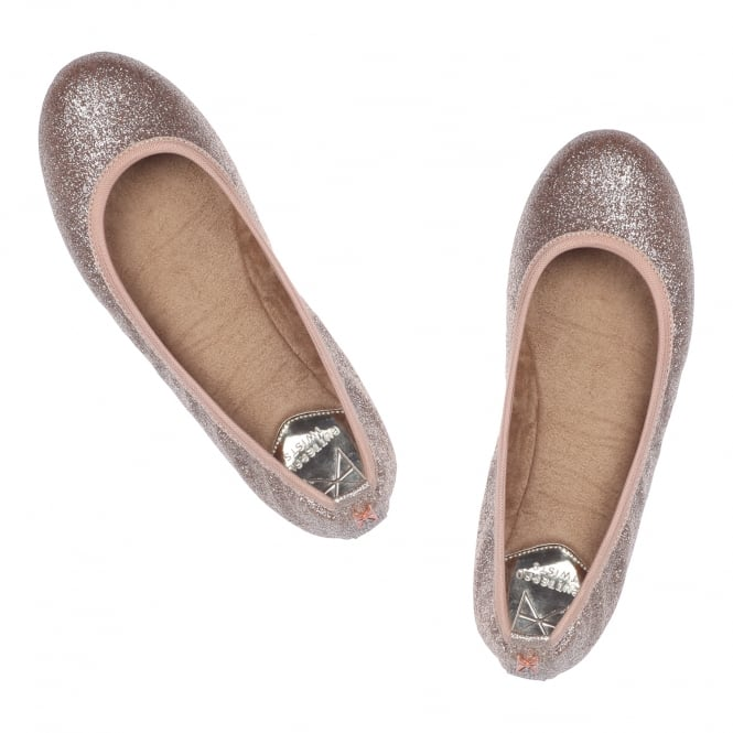 Butterfly Twists Samantha Glitter - Folding Ballerina Pumps