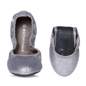 Samantha Glitter - Folding Ballerina Pumps