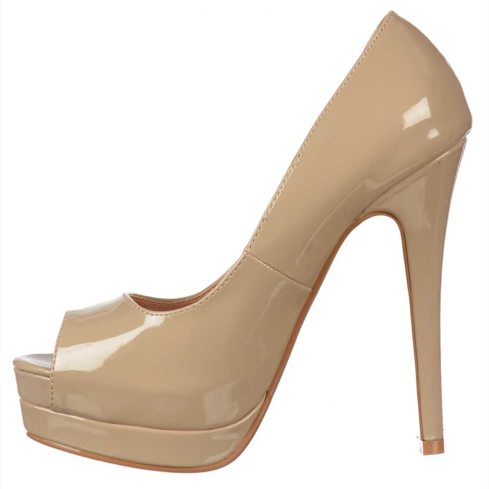 Ella Peep Toe Stiletto Platform High Heel Shoes - All Occasion ...