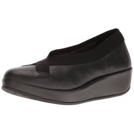 Bobi Wedge Round Toe Court Shoe - Low Heel Cleated Sole