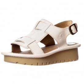 Kani Wedge Open Toe Sandal - Cleated Sole - Rug Red, Rug Off White, Rug Black