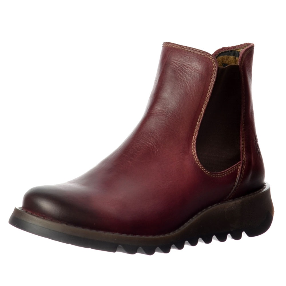 cc6e214a0b52 Fly London Salv Rug Leather Chelsea Ankle Boot - Low Heel - WOMENS ...