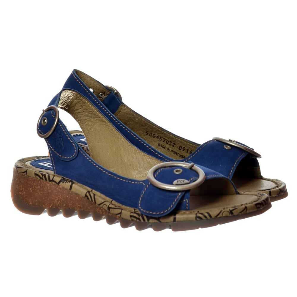 65bfa8c7b9a3f Fly London Tram Wedge SlingBack Sandal - Cleated Sole - Cupido Blue -  WOMENS from Onlineshoe UK