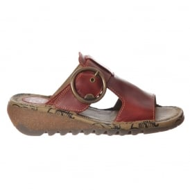 Tute Wedge Flip Flop - Cleated Sole - Red