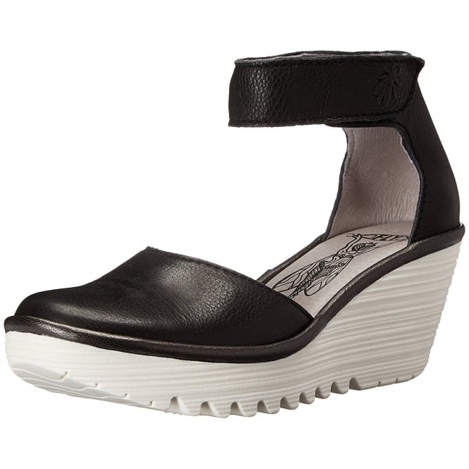 Fly London YAND 709FLY Ankle Strap Wedge Full Leather Sandal