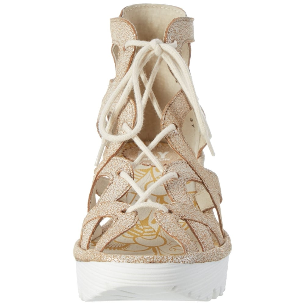 568ea6afeef1 Fly London YELI 719 FLY Lace Up Wedge Sandal - WOMENS from Onlineshoe UK