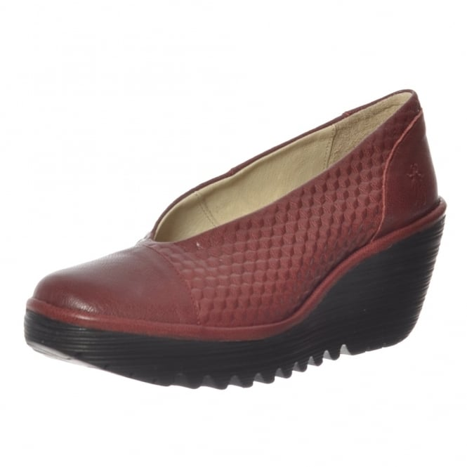 Fly London Yena 685 Fly Wedge Round Toe Court Shoe - Low Heel Cleated Sole
