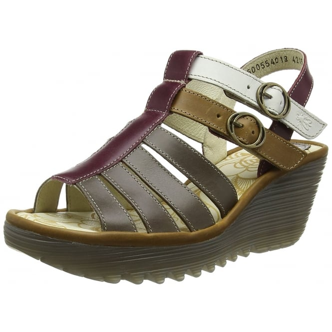 Fly London Ygor - Sling Back Summer Wedge Sandal