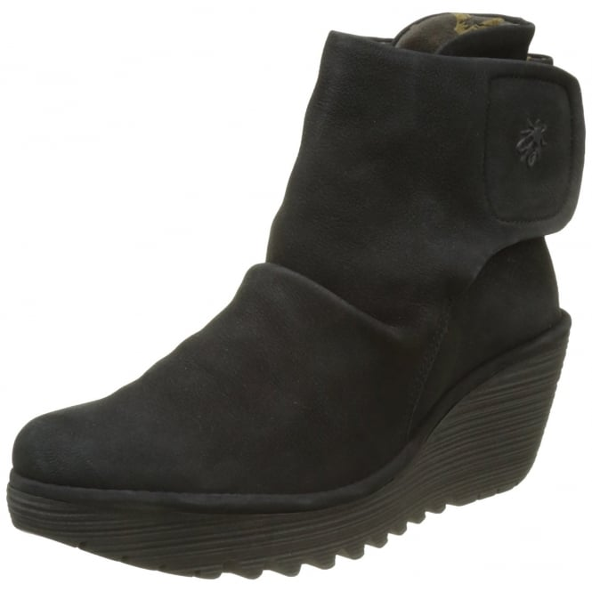 Fly London Yomi765 Pull On Ankle Boots Wedge Heel