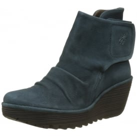 Yomi765 Pull On Ankle Boots Wedge Heel