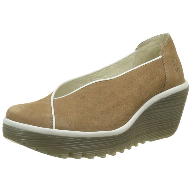 Fly London Yuca839 Wedge Round Toe Court Shoe - Low Heel Cleated Sole