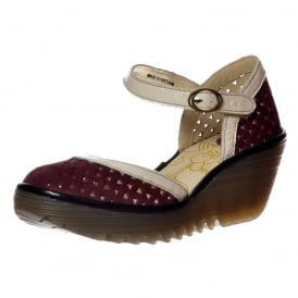 YUDE - Mary Jane Wedge Sandal