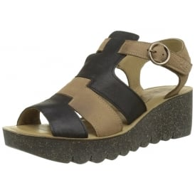 Yuni188 Open Toe Wedge Leather Sandal