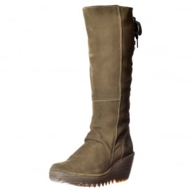 Yust Mid Calf Extra Wide Fitting Winter Boot - Low Wedge Cleated Sole