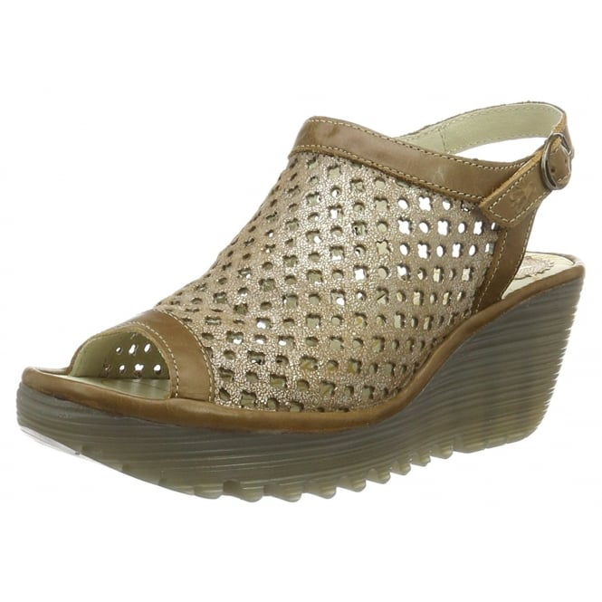 Fly London Yuti 734 Fly Sling Back Leather Wedge Sandal
