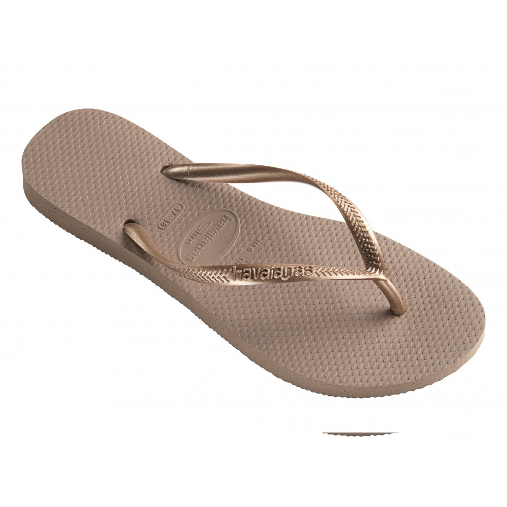 f59262d5babb Havaianas Slim Flat Flip Flop - Rose Gold - WOMENS from Onlineshoe UK