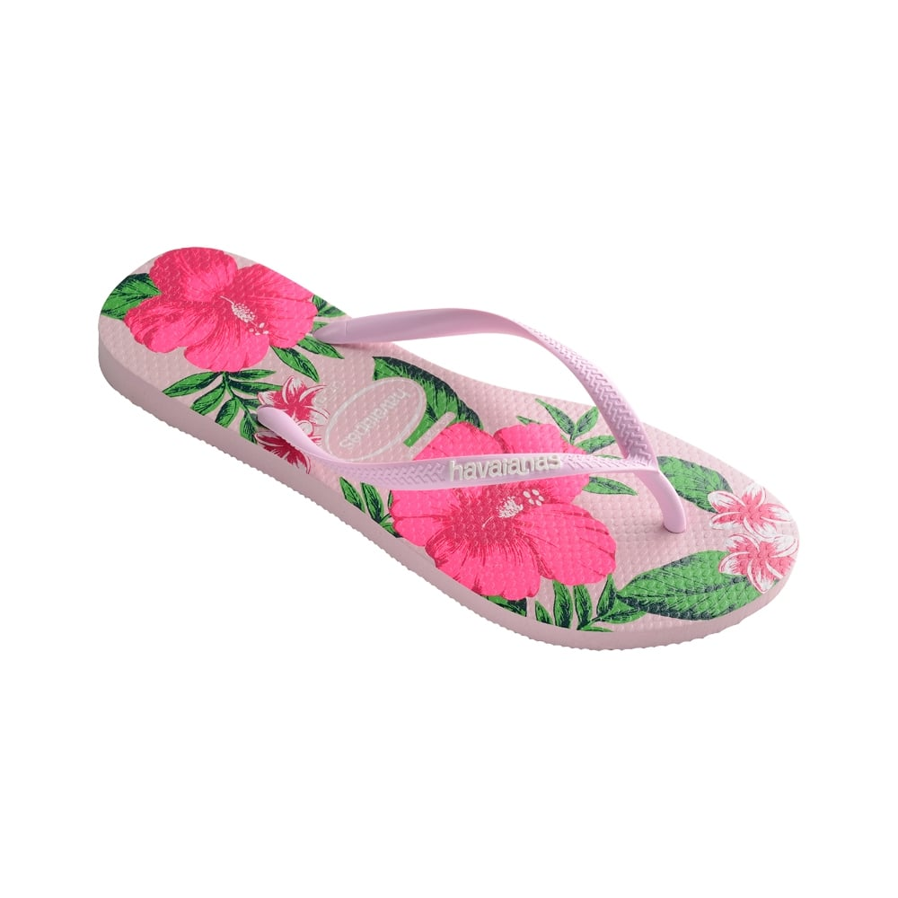 0f8aa103968e Havaianas Slim Floral Flat Flip Flop - Crystal Rose - WOMENS from ...