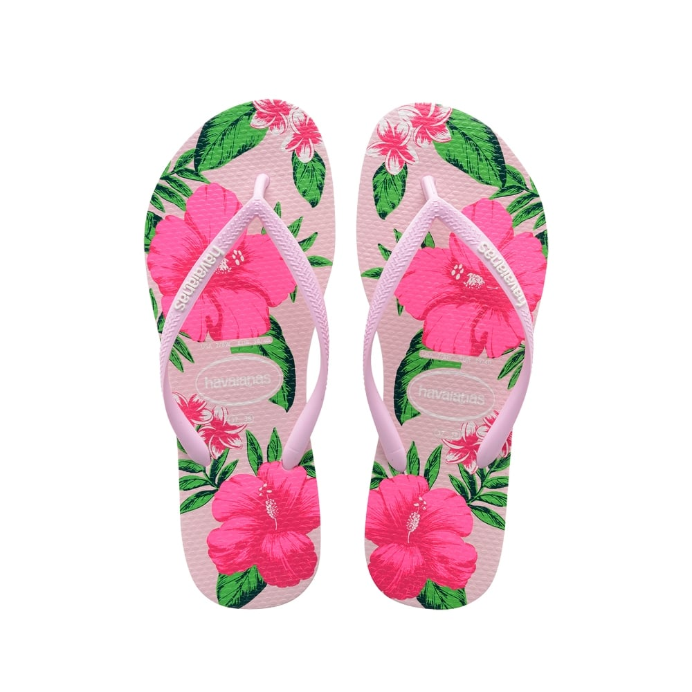 ebee477bdfdc76 Havaianas Slim Floral Flat Flip Flop - Crystal Rose - WOMENS from ...