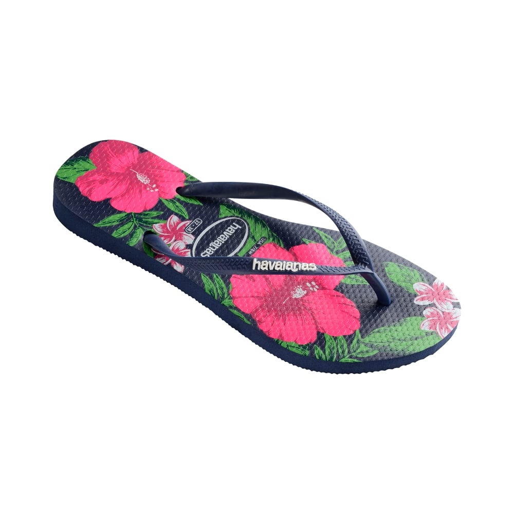 900698300a05 Havaianas Slim Floral Flat Flip Flop - WOMENS from Onlineshoe UK