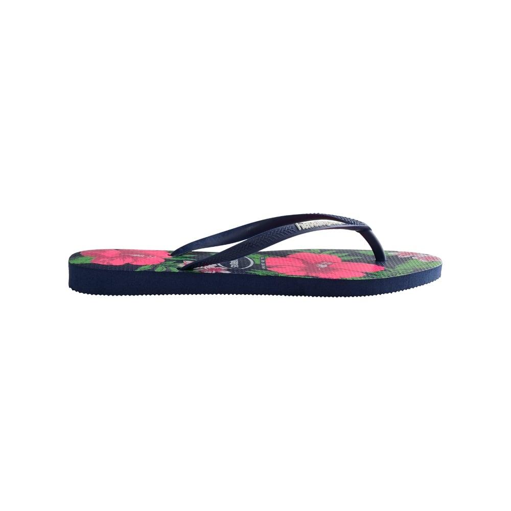 84c1c72df Havaianas Slim Floral Flat Flip Flop - WOMENS from Onlineshoe UK