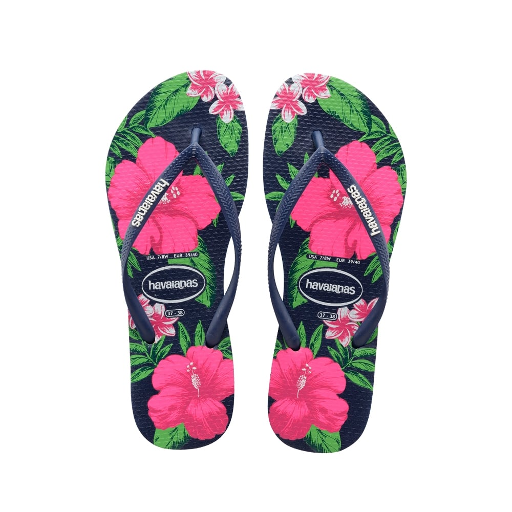 adcf26b235db5f Havaianas Slim Floral Flat Flip Flop - WOMENS from Onlineshoe UK