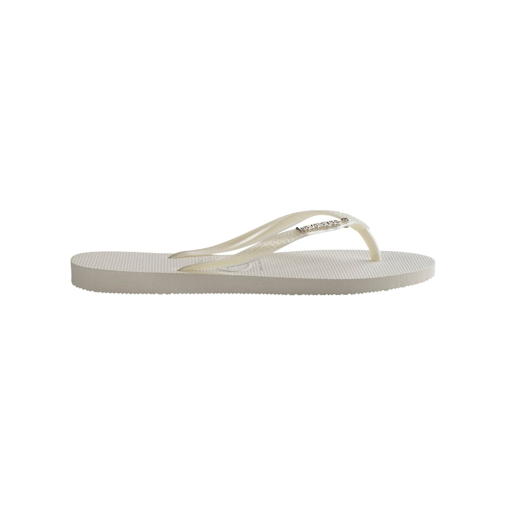 925a4026136a Havaianas Slim Logo Metallic And Crystal - Steel Grey - WOMENS from ...