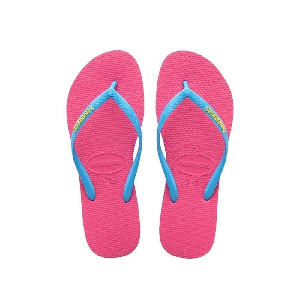 839508a5e Havaianas Slim Logo Pop-Up Flat Flip Flop - Orchid Rose   Turquoise ...