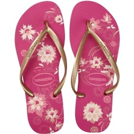 Slim Organic Flat Flip Flops - Navy Blue, Black, Raspberry Rose, White / Silver