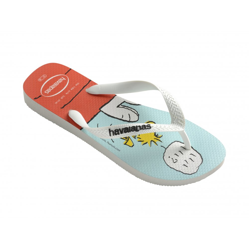 db409e1438e Havaianas Snoopy White Flat Flip Flops - White - MENS from Onlineshoe UK
