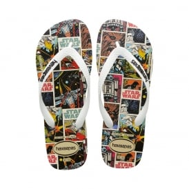 Star Wars - Flat Flip Flop Beach Shoe - White