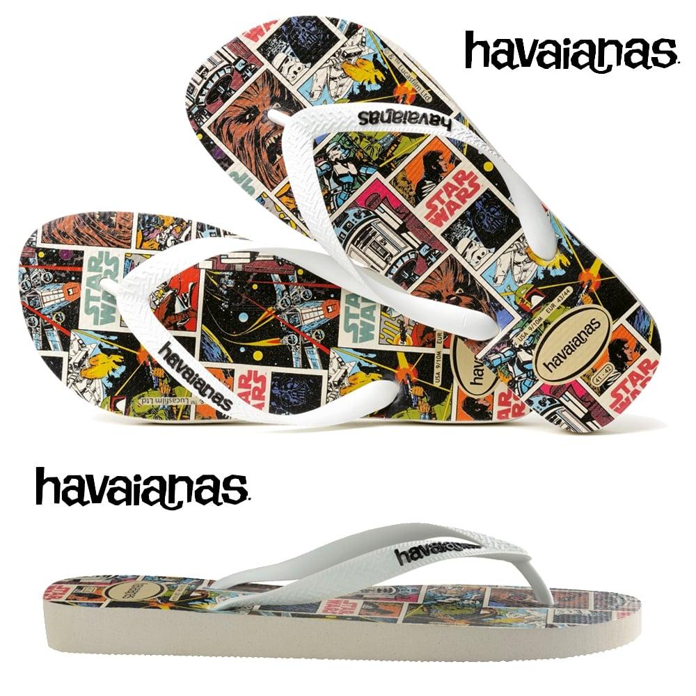 e7525198c62576 Havaianas Star Wars - Flat Flip Flop Beach Shoe - White - MENS from ...
