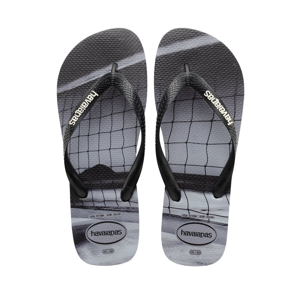 03f50a827 Havaianas Unisex Mens Boys Hype Flat Flip Flops - Steel Grey - MENS ...